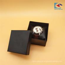 Caja de regalo de papel del reloj de la cartulina de encargo de la buena calidad con el amortiguador de la esponja