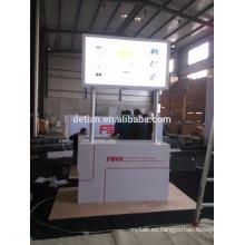 soporte de exhibición de madera modular de la publicidad, exhibición de la feria profesional de la publicidad