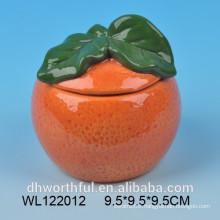 Orange shape top quality ceramic airtight container