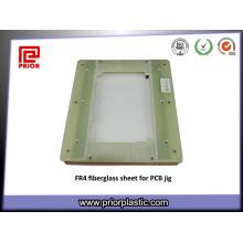 Feuille de résine époxyde de fibre de verre de la feuille G10 Fr4