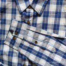 Camisa xadrez masculina de manga comprida 100% algodão Camisas diárias