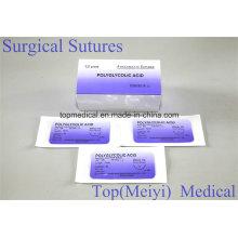 Хирургический шов полигликолевой кислоты с иглой