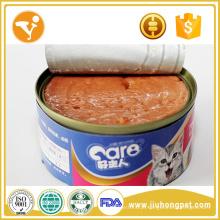 Fábrica de alimentos para gatos Sabor de atum Peixe de lata de gatos Comida de gato enlatada