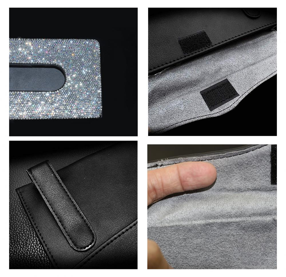 Pu Leather Hanging Sun Visor Car Tissue Box9 Jpg