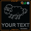 Cartoon Sheep Animal Rhinestone Din Text motiv