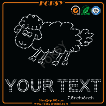 Cartoon Sheep Animal rhinestone Your Text motivos