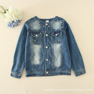 2017 New China wholesale cheap kids clothing for Girls fancy denimT- shirts kids Blouses Winter Long sleeve Children Jacket