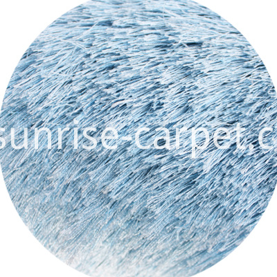 Polyester Shaggy Rug Blue Color