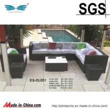 Alta Qualidade Design Moderno PE Rattan Sofá Conjunto de Móveis (ES-OL001)