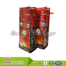 Изготовленный на заказ Логос напечатал Рециркулирует вакуума gusset стороны алюминиевой фольги композитный Материал 12 унций кофе мешок с оловом галстук закрытие и клапан