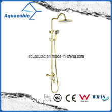 Polished Gold Brass Bath Shower Faucet (ASH9981G)
