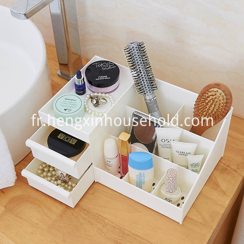 plastic cosmetic organizer drawer