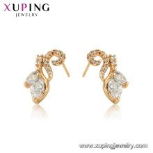 96940 xuping moda jóias 18k banhado brincos de cobre Ambiental