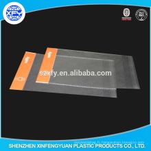 Clear OPP Plastic Sac d'emballage avec en-tête et bord antidéflagrant