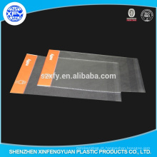 Clear OPP Plastic saco de embalagem com cabeçalho e à prova de explosão borda
