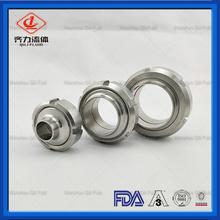 Sanitets rostfritt stål DIN Union med packning