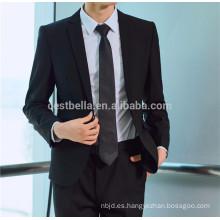 Groom Tuxedos Negro De Alta Calidad Trajes De Boda Negocio Hombres Trajes Groom Wear Jacket + Pantalones De Dos Piezas