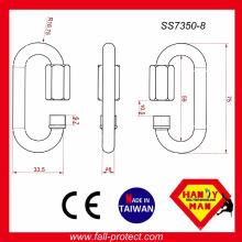 CE EN354 Belastung 25kN Edelstahl Quick Link