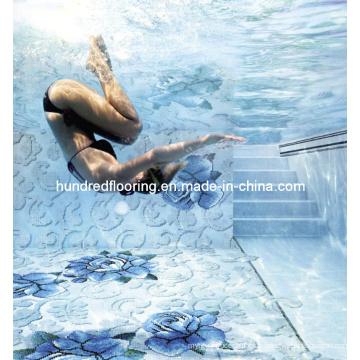 Motif de mosaïque en verre de mosaïque de piscine (HSP328)