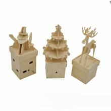 FQ marque cadeau de Noël puzzle puzzle bricolage enfant jouet personnalisé en bois boîte à musique