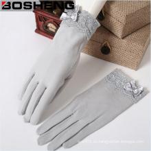 Bow Decor Lace guantes tejidos