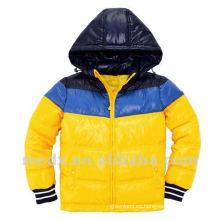 Corea del invierno capa de nylon amarillo para los hombres