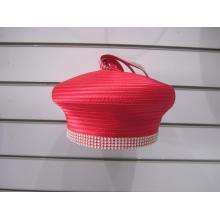 Chapéus de Pillbox formais de tecido de cetim para mulher