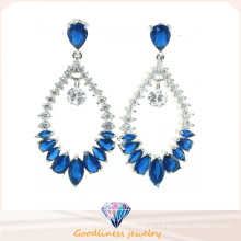 Joyería de la manera de la joyería de la alta calidad colorea la joyería plateada rodio cristalino de la joyería de la gota del agua (e6404)