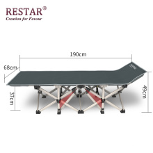 Hot Sale Metal Bed Foldable Outdoor Camping Adjustable Bed Manufacture
