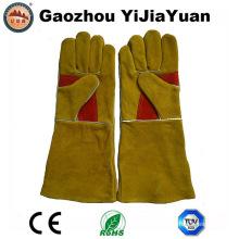 Reforzamiento Palm Leather Protección de seguridad Guantes de soldadura para soldadores