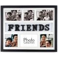 6-ouverture en bois Multi Photo Frame avec lettres amis