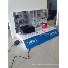 Прочная Столешница Акриловый Материал Бесплатная Дизайн Беспроводная Связь Bluetooth Мини-Динамик Steroeo Дисплея