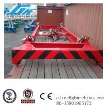 40feet Low height Poutre de levage de conteneur semi-automatique, épandeuse mécanique pour matériau en vrac