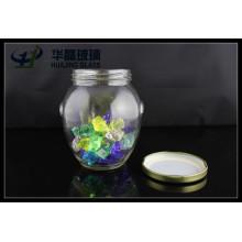 2015 venta caliente Huajing 475ml mermelada vidrio Mason Jar