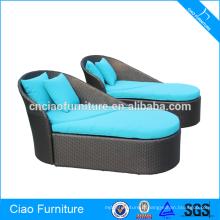 Sofa en osier ergonomique de revêtement de poudre de meubles de rotin