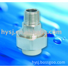ppr male thread coupling, ppr brass fitting, ppr tube fitting, brass fitting