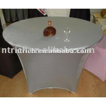 New style argent Lycra/spandex/couverture de tissu de table