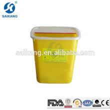 Caixa afiada plástica do recipiente do armazenamento SKQ039 médico