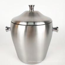 Forma del tambor Caja de hielo Contenedor / Hotel Cerveza redonda Cubo de hielo