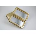 Espelho de bolso pequeno vidro de dupla face