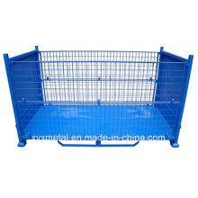 Quatre côtés Jumbo Logistic Cage pour l'industrie du recyclage Folding Stillage