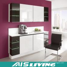 Mobília dos armários de cozinha do bloco liso (AIS-K260)