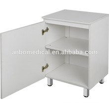 hospital or home use wooden bedside locker with two shelves and one door
