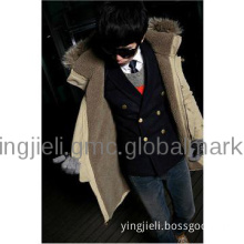 Thick cotton-padded clothes men hooded coat keep warm