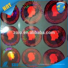 Made in China benutzerdefinierte Hologramm Aufkleber Druckmaschine zu machen Runde Hologramm Aufkleber