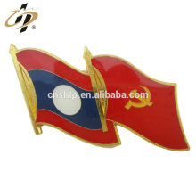 Factory wholesale gold china philippines flag lapel pin with epoxy