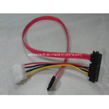 SATA (15+7) to (SATA7+IDE 4P) Power Sync Data Cable
