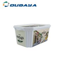 Personnalisez le contenant à beurre jetable avec couvercle