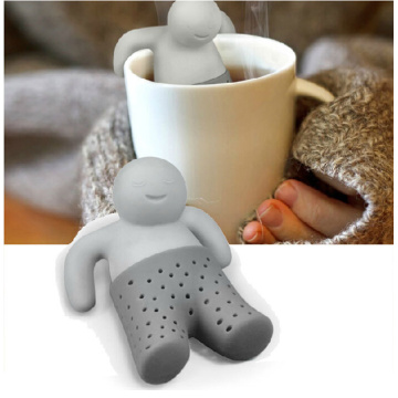 Red Man For Tea Infuser Silicone Strainer