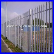 Vedação de paliçada galvanizada de 1,2 m de diâmetro redondo / entalhado / w
